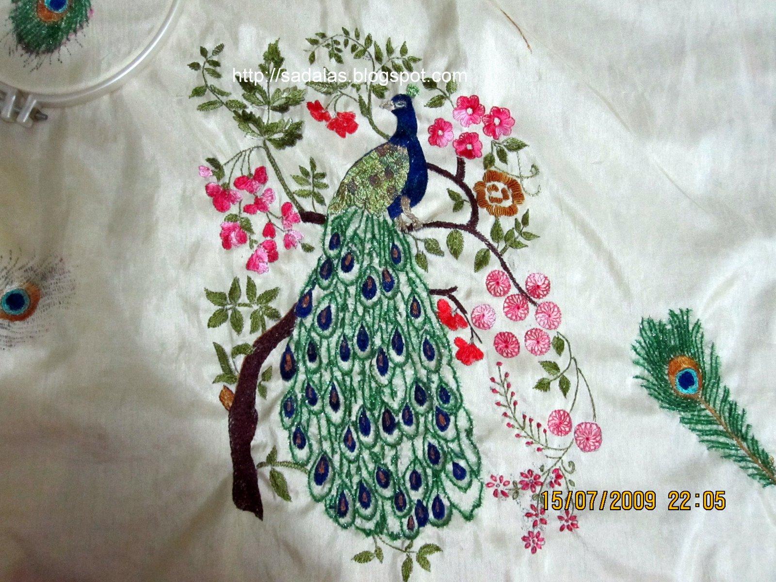 Sadala39s Embroidery Peacock 2