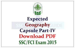 List of Expected General Awareness Questions from Geography Capsule Download in PDF