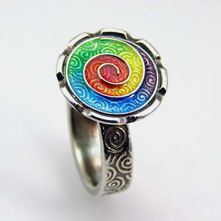 Ring made by Joy Funnell from new formula Art Clay Silver clay