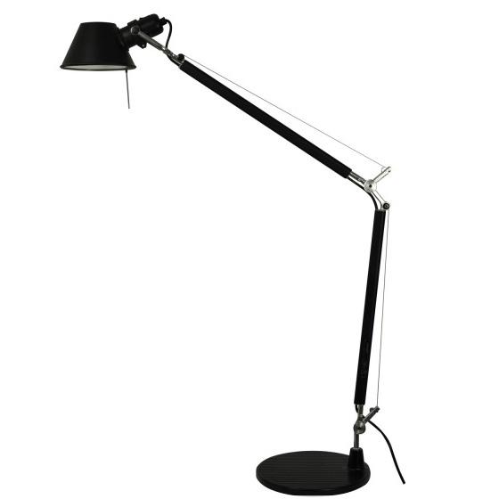 modern interior design BLACK CLASSIC TOLOMEO DESK LIGHT FROM ARTEMIDE