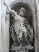 Profeta Elias, na Basílica de S. Pedro no Vaticano.