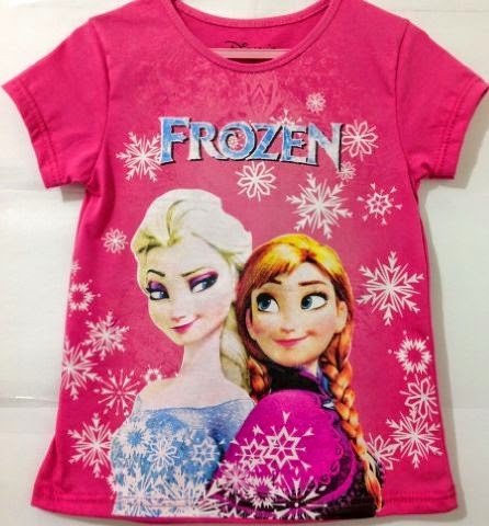 grosir kaos anak karakter Frozen fanta
