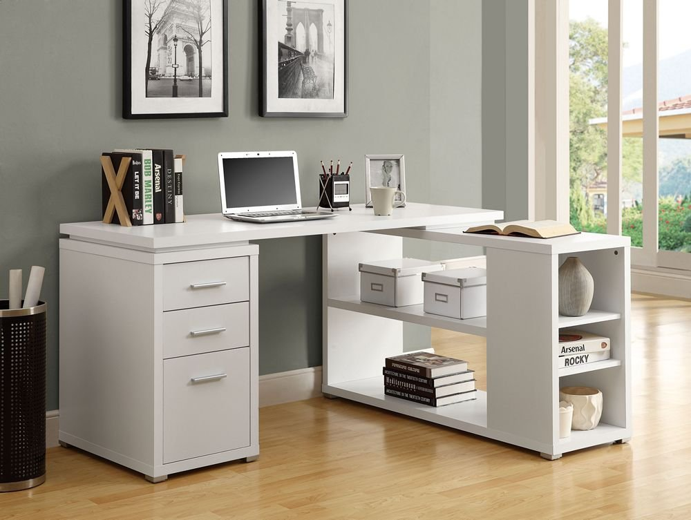 L Desk White For Your Dwelling Workplace You Ought To Get A Corner Computer Desk Which Matches The Particular Sleep  Of Your Furniture. Furthermore That Certainly Not The White ...