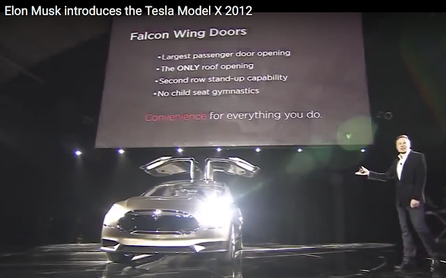 Model X debut with Elon Musk