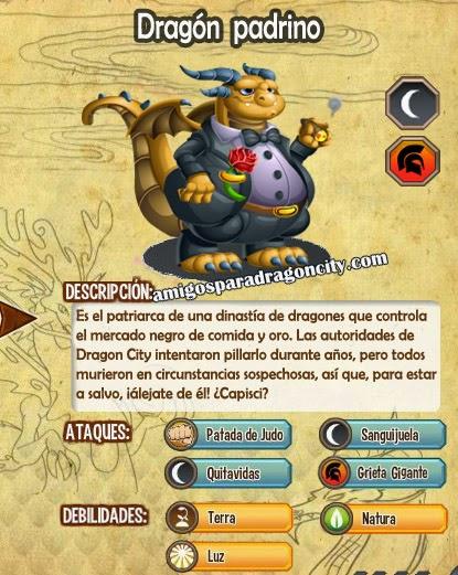 imagen de las caracteristicas del  dragon padrino
