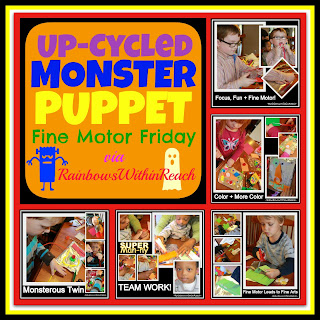 photo of: UpCycled DIY Monster Puppet via RainbowsWithinReach