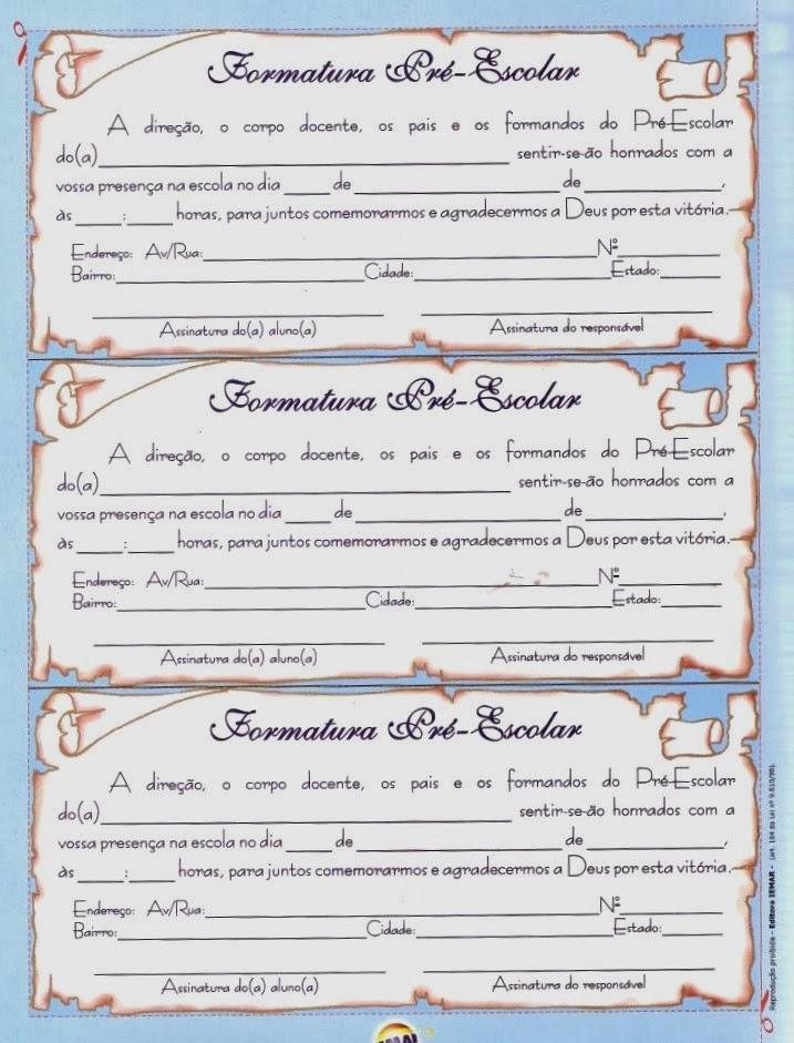 JORNAL PONTO COM: Formatura Modelos de Convites e Diplomas