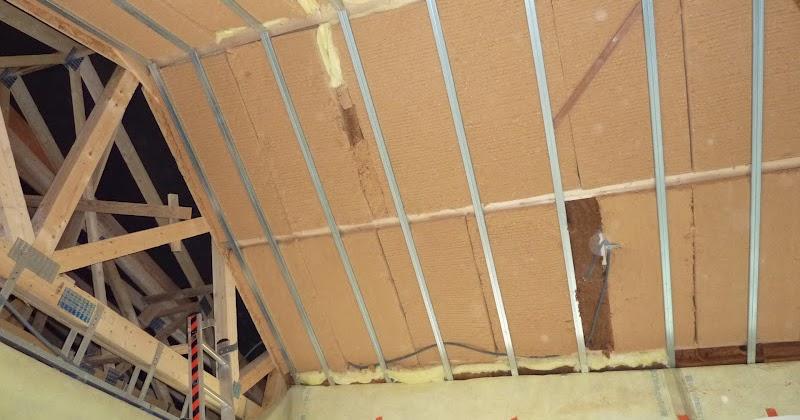 fllaac house isolation et pose du pare vapeur plafond cath drale s jour salon. Black Bedroom Furniture Sets. Home Design Ideas