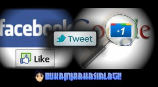 Facebook like, tweet, Google +1 buttons