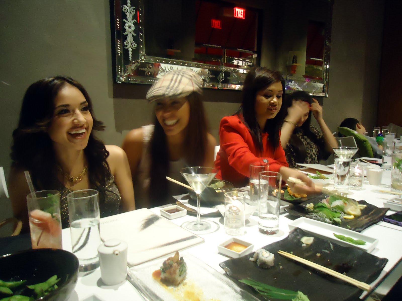 Dinner at Katsuya with my twin Marissa, Judy, Benji, Jermain,Bethany and ...
