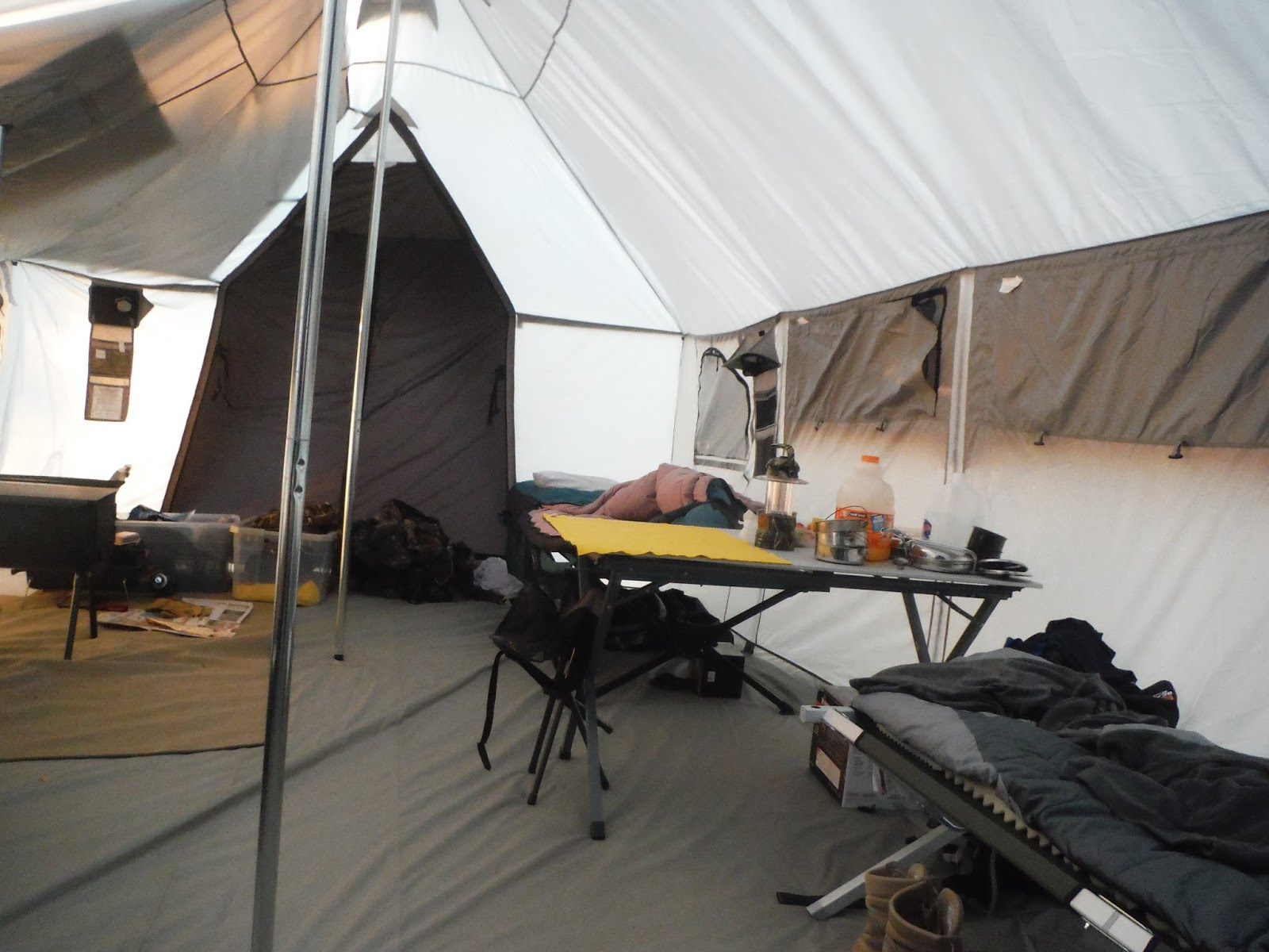 Inside the tent we used the propane heater to take the chill off and used the propane stove to boil water for the oatmeal. The next evening we did start the ... & Fly Fishing the West with Howard: Camping in an Alaknak Tent