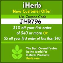 קוד הנחה לרכישה הראשונה ב-iHerb!