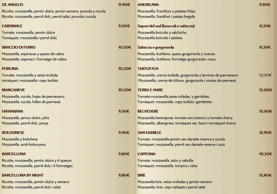 Gula gastron mica antichi sapori de angelis 2 for Pizza jardin precios