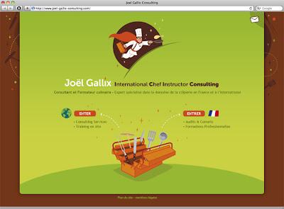 accueil site internet Joël Gallix