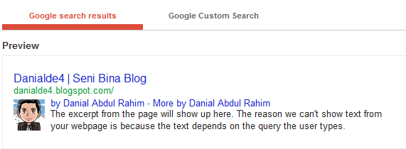 Contoh Google Authorship