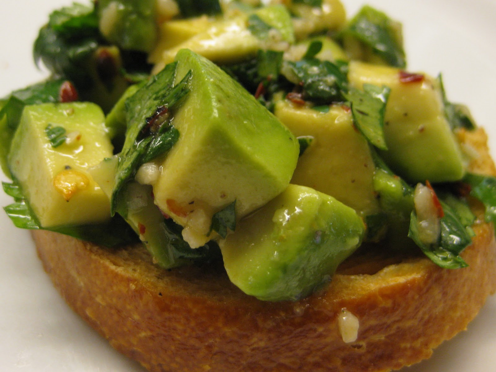 Speak Vegan To Me: Avocado Chimichurri Bruschetta