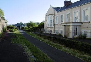 The old halt and track bed of the Bideford Heritage Railway is at the back of The Royal Hotel. Can you spot Emily in the photo?