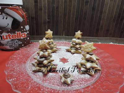Arbolitos De Navidad De Hojaldre Y Nutella.