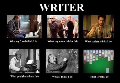 WRITER -- IT'S WHAT I REALLY DO ... SORT OFf