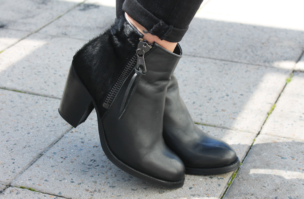 Sweet Monday, Cloggs pony hair black leather boots