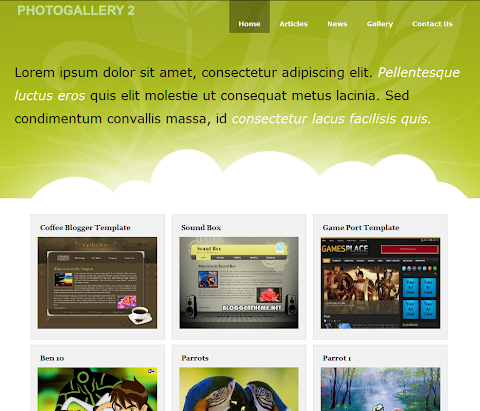 Photo Gallery 2 Blogger Theme