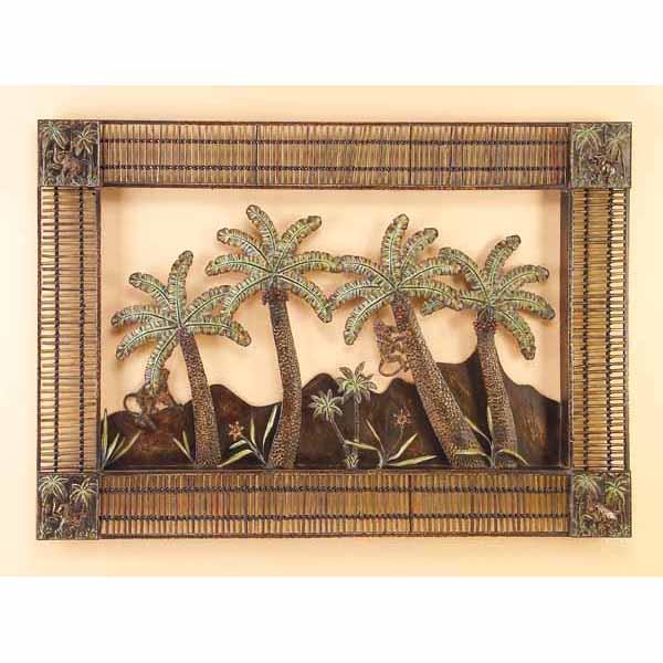 Art wall decor bamboo palm art wall decor bamboo palm for Bamboo wall art