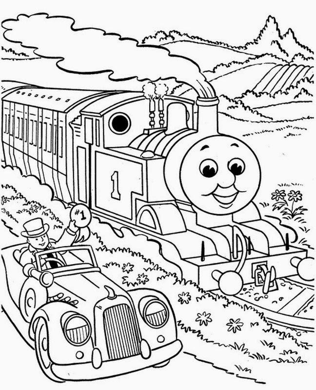 Mewarnai gambar Thomas untuk anak 15