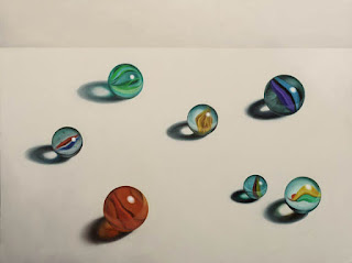 realistic marble painting