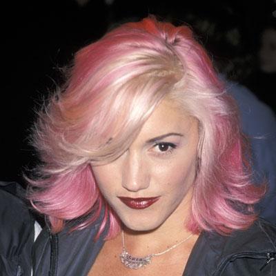 gwen stefani with pink hair