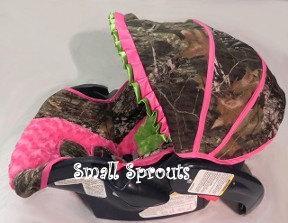 Liberty mossy oak camo breakup lime green hot pink infant car seat