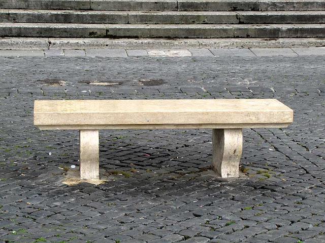 Bench, piazza Trilussa, Trastevere, Roma