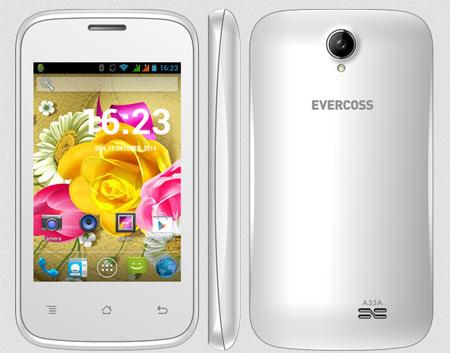 Evercross A33A, Ponsel Android KitKat Terbaru Rp. 400 Ribuan