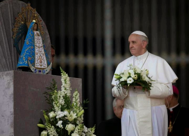 Pope Francis: You cannot be saved without the church or Mary