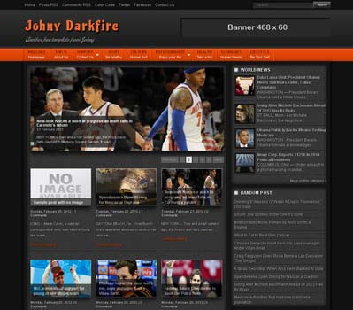 Johny Darkfire blogger template. clean template for blogger template. portal news blogger template