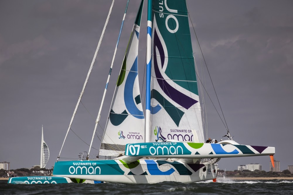 Sidney Gavignet part sur sa qualification Rhum avec Oman Sail.