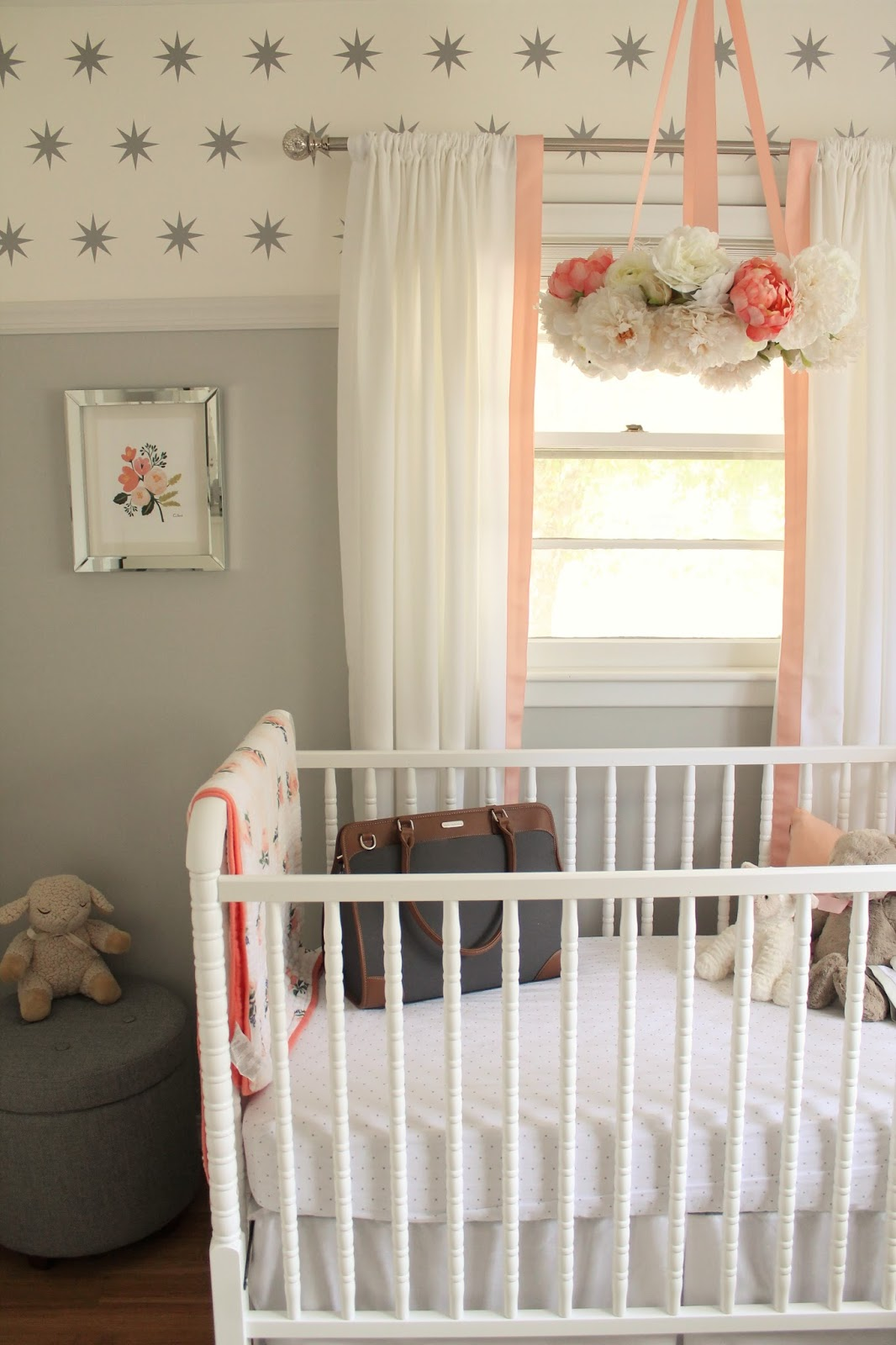 12th And White Peach And Gray Nursery Reveal