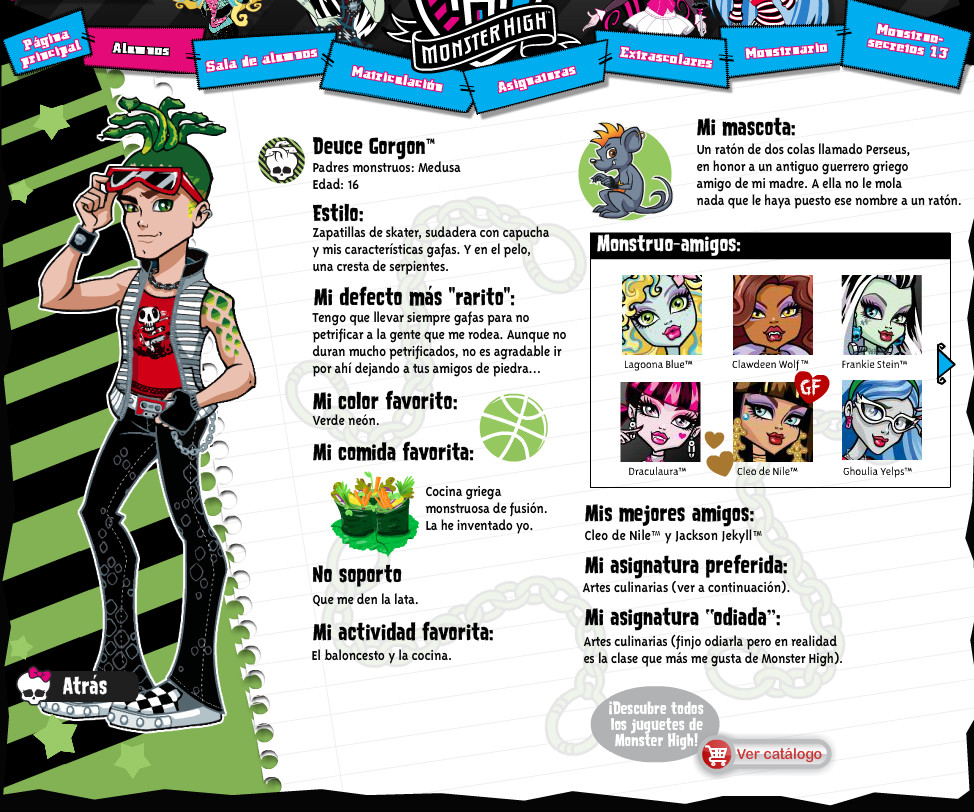 TOYS: Deuce Gorgon : Monster High Scaris - Biografia