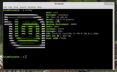 archey linux mint ubuntu