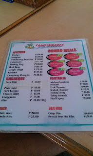 Camp Holiday Samal Menu