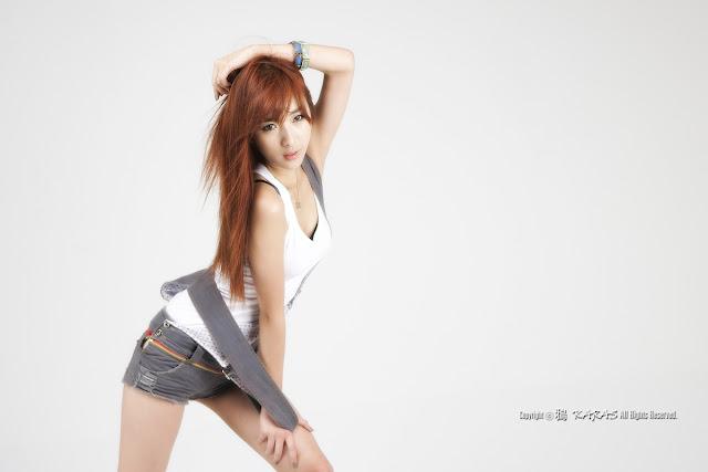 1 Minah in Short Overalls-Very cute asian girl - girlcute4u.blogspot.com