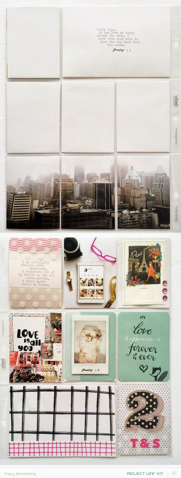 January Three by tracyxo | the single girl's scrapbook #projectife