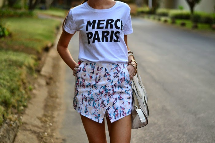 Graphic t-shirt skort