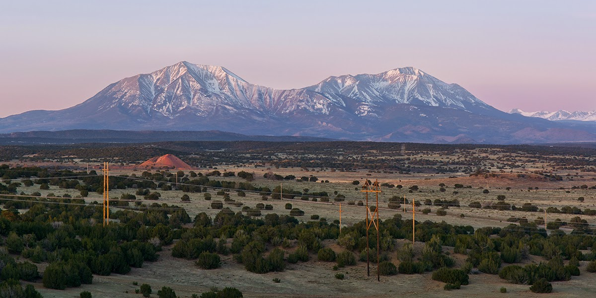 sunrise over the spanish peaks in Huerfano County near Walsenberg, Colorado
