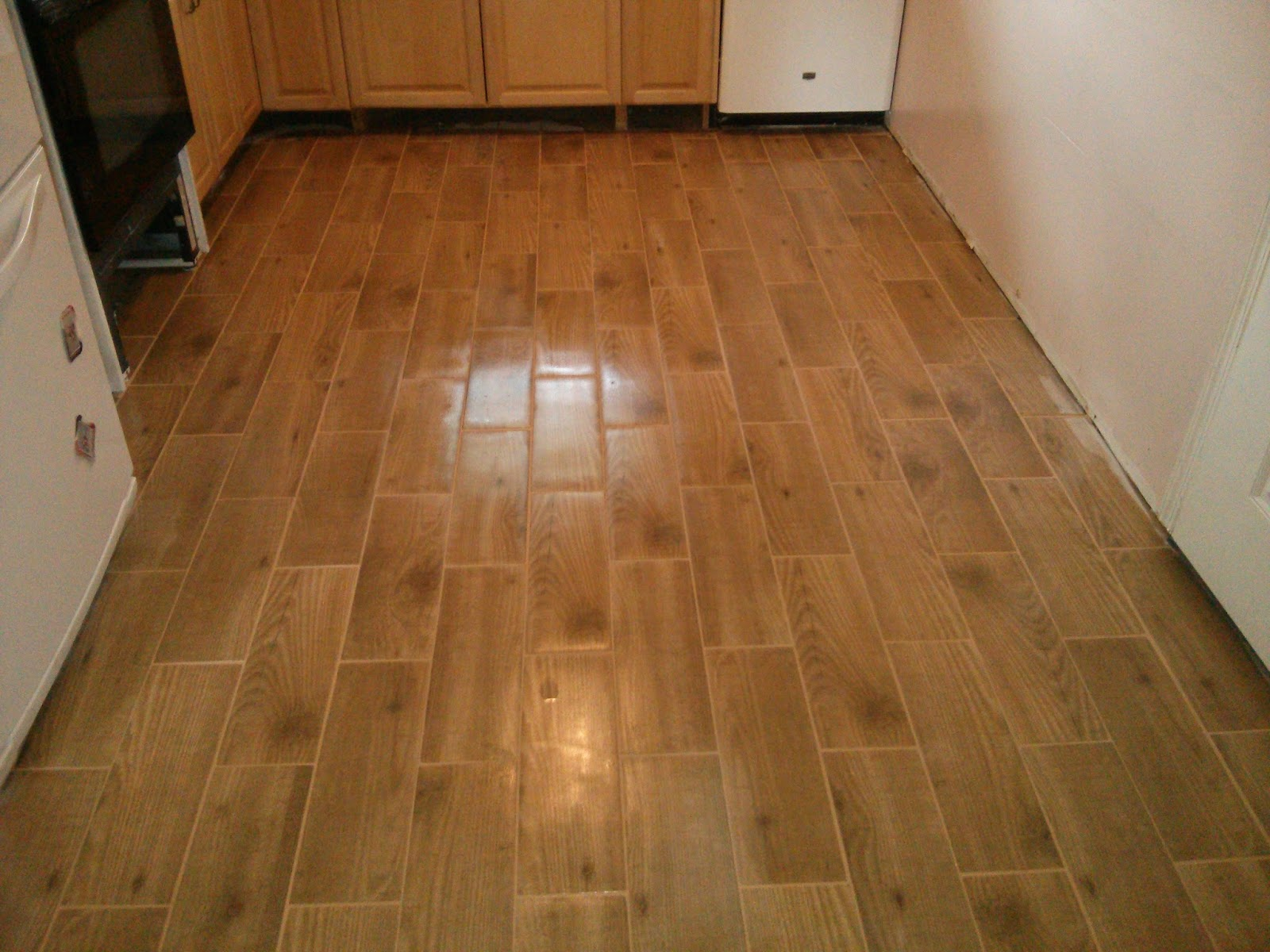 Floor installation photos wood look porcelain tile in levittown Ceramic tile flooring installation