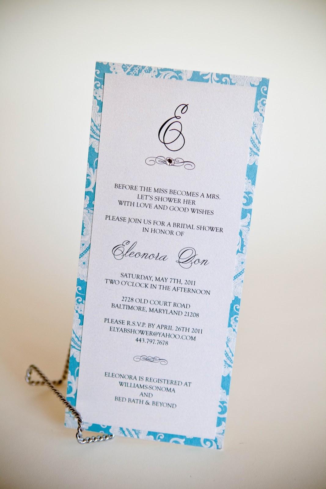 bridal shower invitation bridal shower invitations baltimore