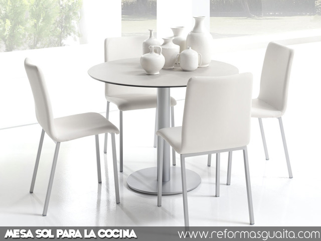 Mesas de cocina de diseo amazing mesa marmol sillas for Mesa cocina blanca
