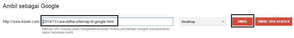 Kolom fetch as google