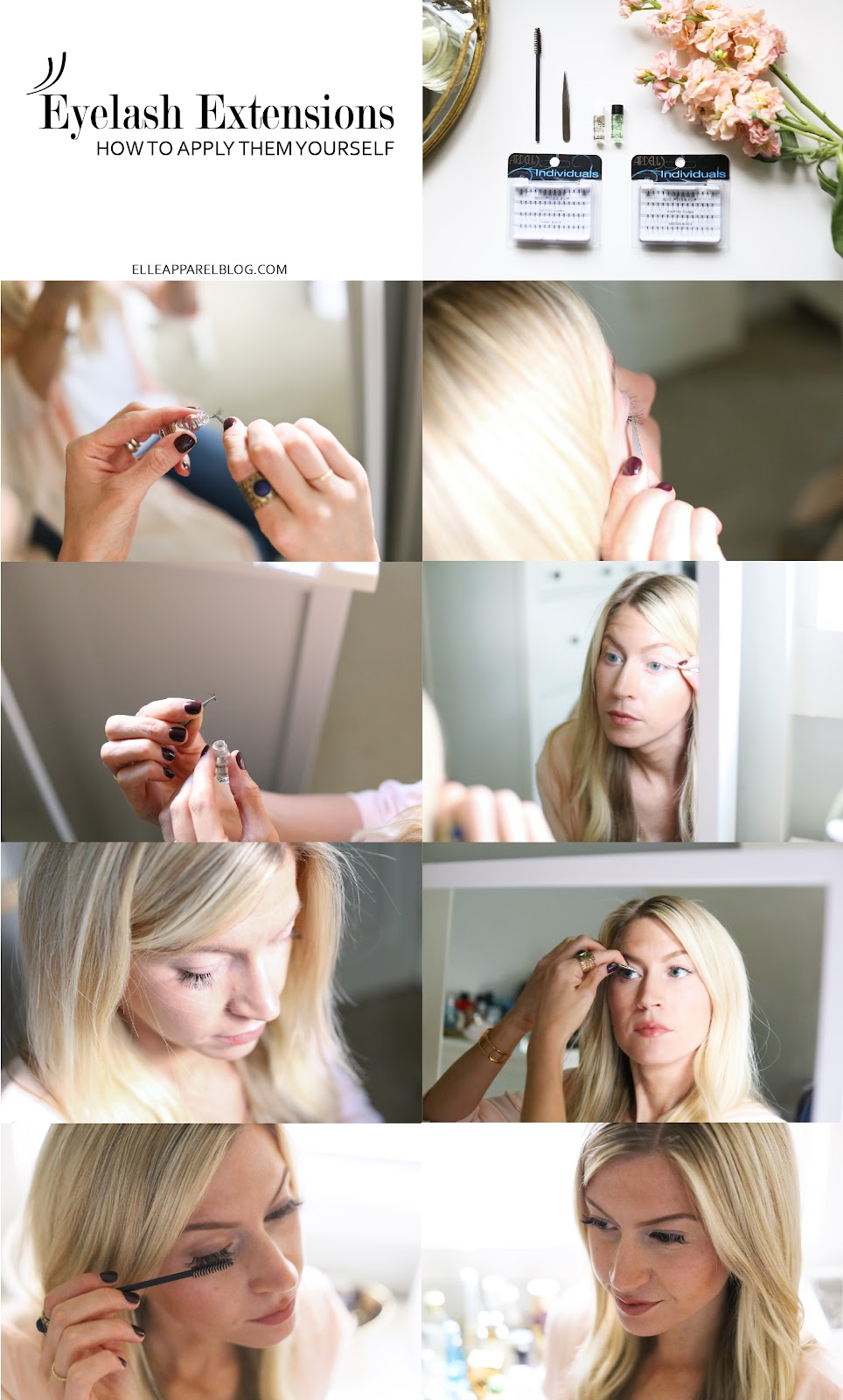 How To Apply Eyelash Extensions Yourself Elle Apparel By Leanne Barlow