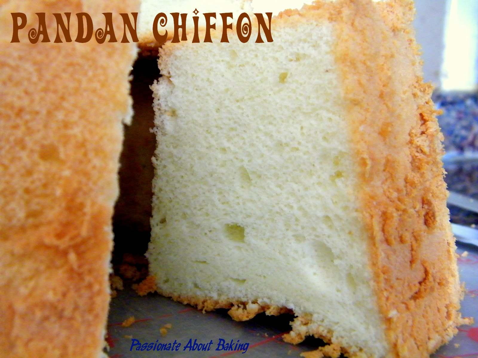 Pandan Chiffon Cake   Passionate About Baking