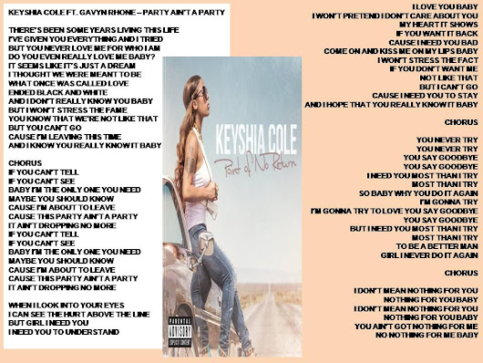 Keyshia Cole Ft. Gavyn Rhone - Party ain't A Party